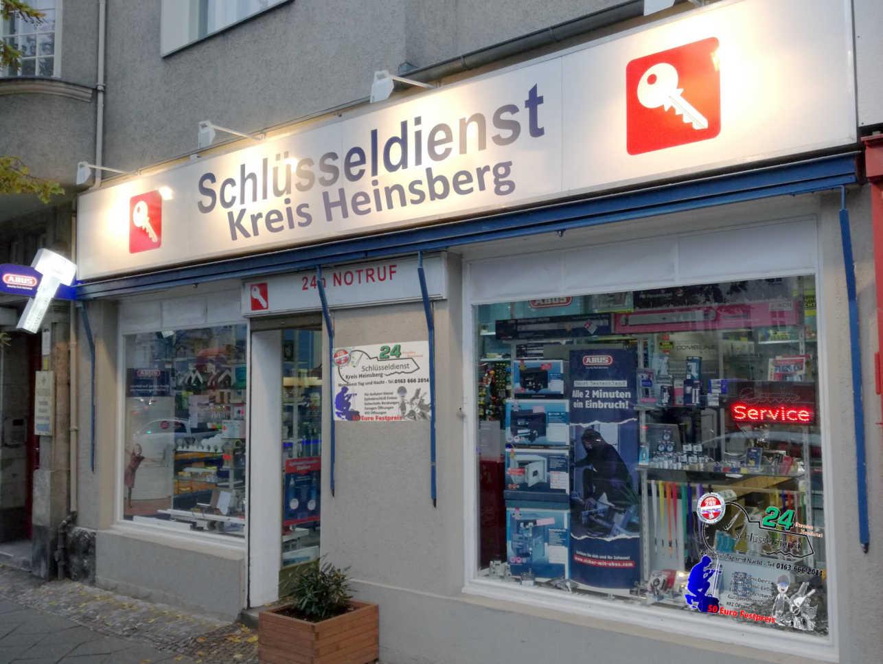 Schlüsseldienst Kreis Heinsberg unser Geschäft von draußen