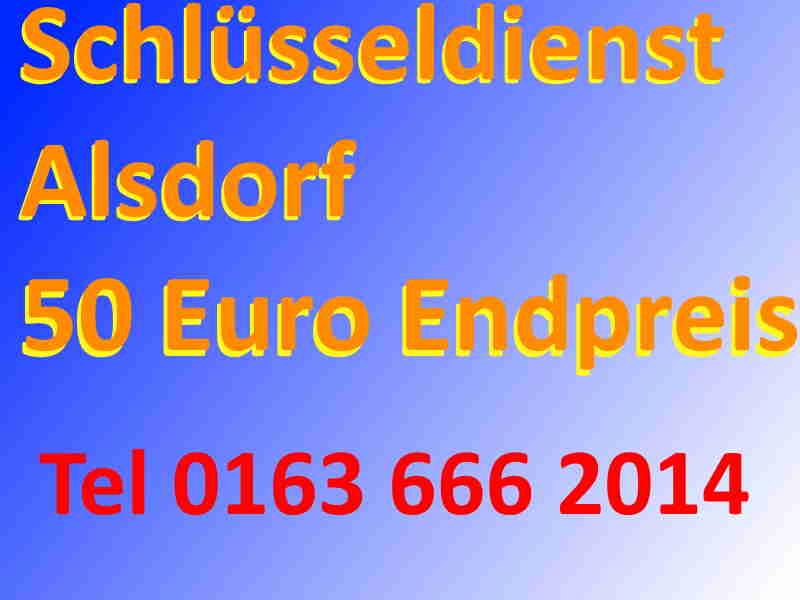 Schlüsseldienst Alsdorf - Notdienst Festpreis 50 Euro - Endpreis -Schlüsselnotdienst